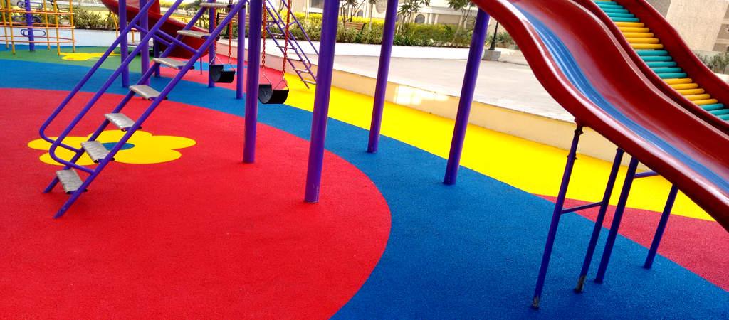 Rubber Flooring Baxter International - Soft flooring for children's play area